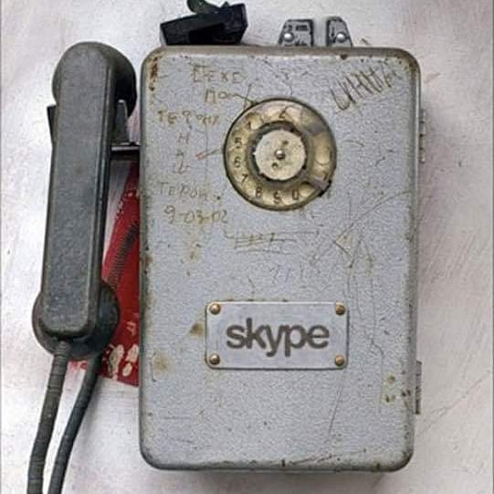 old #skype #rotaryphone #cordedphone #iphone #apple #android